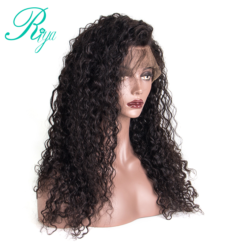 150% Density Full Lace Wig With Baby Hair Kinky Straight Brazilian Pre Plucked Human Hair Wigs For Black Women Riya Hair ...