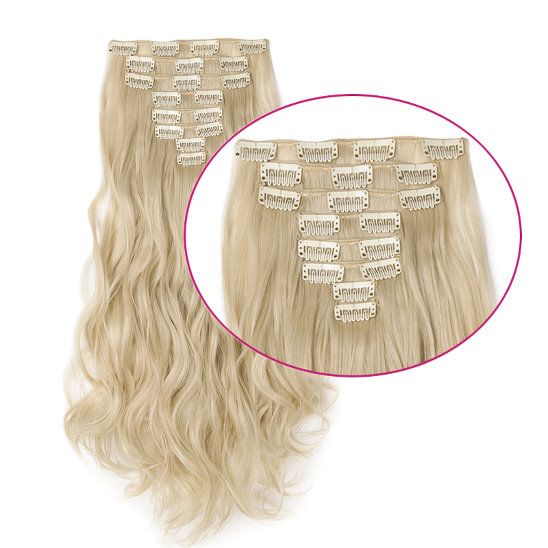 Synthetic Clip-in One Piece Reliable Alileader Product 20 Colors One Piece One Clip Hair Extensions Blonde Pink Red Synthetic Ombre Hair Pieces For Women With Clip