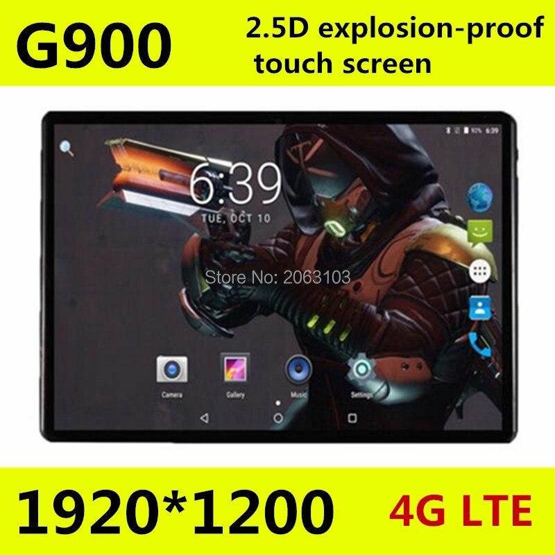 2019 nouveau 10 pouces tablette PC Octa Core 4 GB RAM 64 GB ROM 1920*1200 IPS 2.5D verre trempé écran GPS WiFi 10