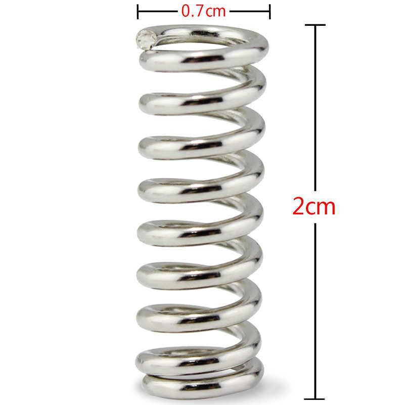 10 قطعة/الوحدة الفولاذ المقاوم للصدأ الطارد الربيع 1.2x7.5x20 مللي متر ل 3D طابعة CNC راوتر