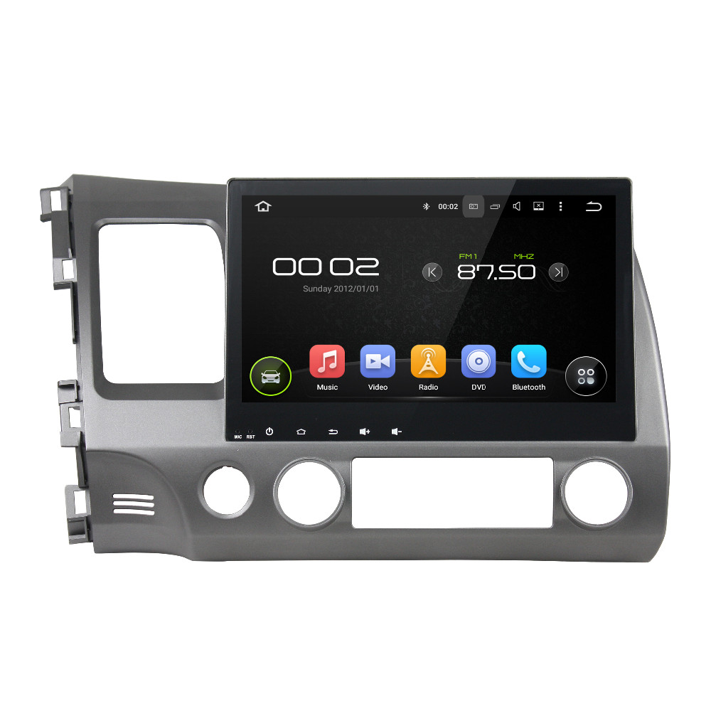 1024 600 Quad Core 10 1 Android 5 1 Car DVD GPS for Honda Civic 2006
