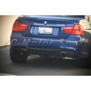Car Accessories Carbon Fiber P Style Dual Exhaust Rear Diffuser Fit For 2006-2011 E90 E91 335i Rear Diffuser for MT Rear Bumper title=
