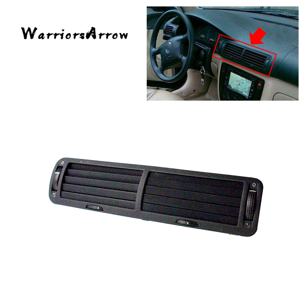 WarriorsArrow Front Dashboard Central A C Heater Air Vent Outlet Black For VW Passat B5 1997