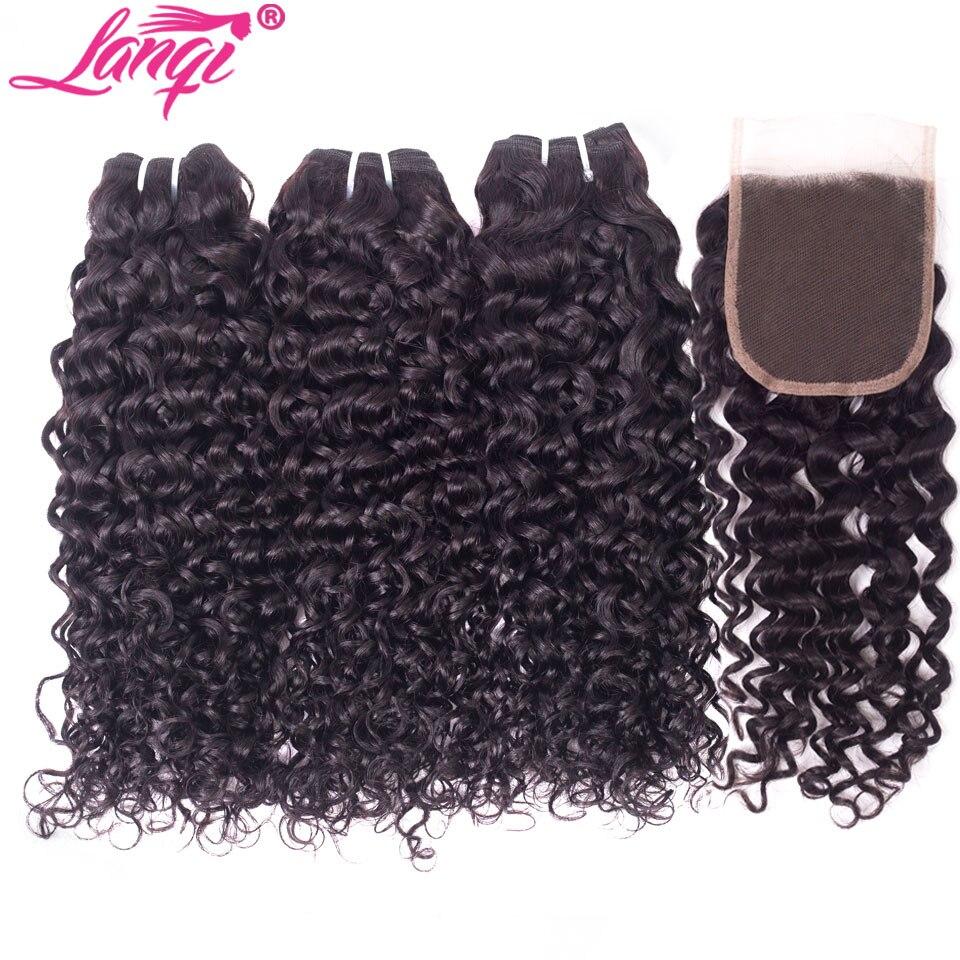 HTB1AzwpNXYqK1RjSZLeq6zXppXaI lanqi Peruvian hair bundles with closure nonremy human hair weave bundles with closure Brazilian water wave bundles with closure