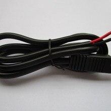 1 шт. SAE DC power автомобильный удлинитель DIY Кабель 2x1. 5 мм^ 2 черный круглый 100 см