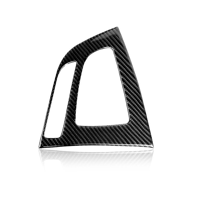 For <font><b>BMW</b></font> F20 <font><b>F21</b></font> Carbon Fiber Gear Shift Control Panel Cover Interior Trim Car Styling <font><b>Sticker</b></font> 1 Series 116i 118i Accessories image