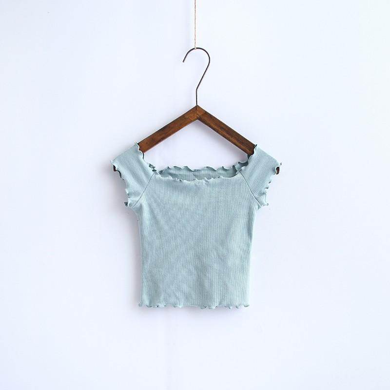 HTB1Azx4OVXXXXbWapXXq6xXFXXXT - Striped Knitted Off Shoulder Slash Neck Short Sleeve T Shirt PTC 27