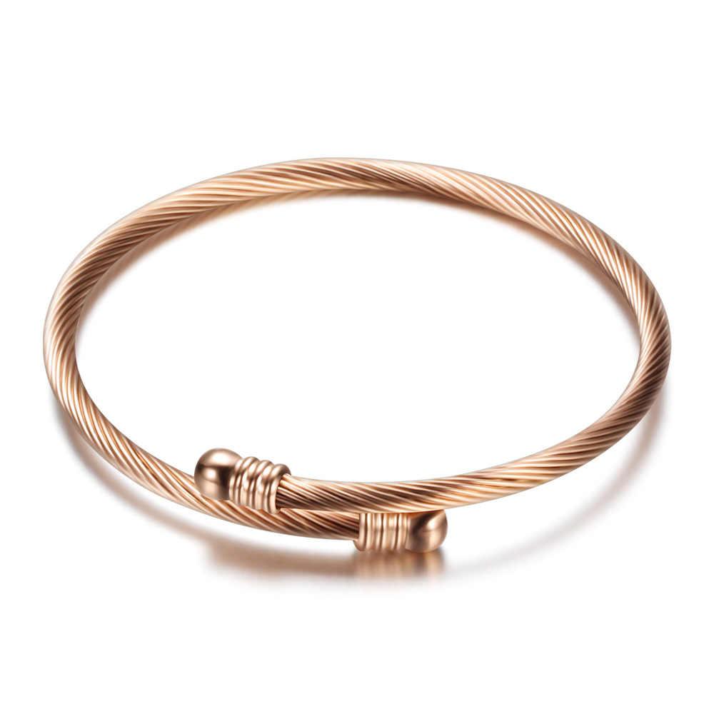 Modne bransoletki dla kobiet luksusowe ze stali nierdzewnej złoty wąż łańcuch kości bransoletka na mankiet moda w stylu walentynki prezent dla kobiet