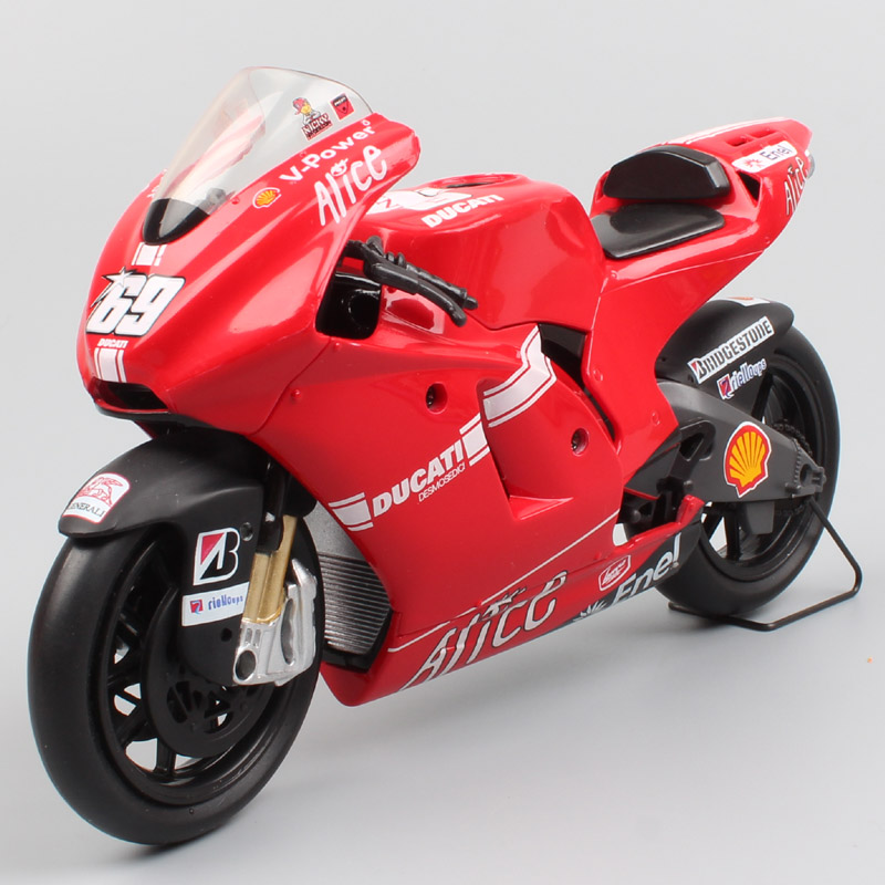 1 12 New-ray 2009 Racing Ducati Desmosedici GP9 No.69 Nicky Hayden Motorcycle Diecasts Toy Vehicle Scales Motorbike Toy Gift GP