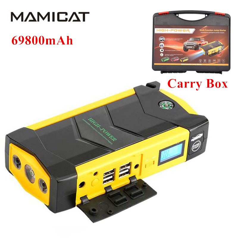 High Capacity 69800mAh Car Jump Starter Discharge Rate Diesel Power Bank for Car Motor Vehicle Booster Start Battery Charging
