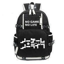 Kein Spiel Kein leben ICH Liebe Menschliches Cosplay Rucksack Cartoon Leuchtenden Student Schule Schulter Tasche Teenager Laptop Reisetaschen