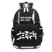 No Game No life I Love Human Cosplay Backpack Cartoon Luminous Student School Shoulder Bag Teenage Laptop Travel Bags