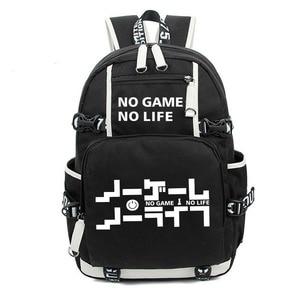 Image 1 - No Game No life I Love Human Cosplay Backpack Cartoon Luminous Student School Shoulder Bag Teenage Laptop Travel Bags