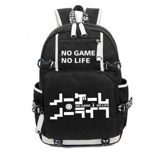 No Game No life I Love Human Cosplay Backpack Cartoon Luminous Student School Shoulder Bag Teenage Laptop Travel Bags