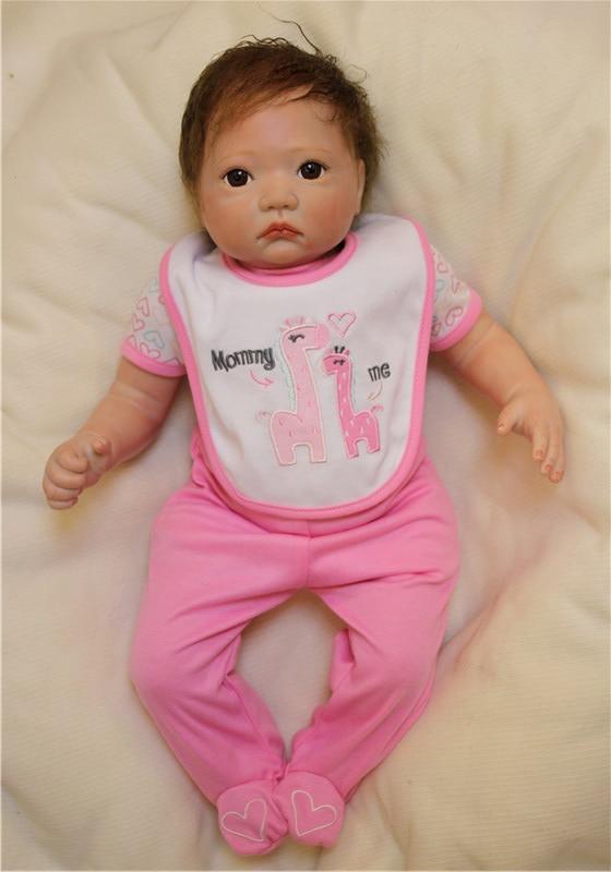 "Buy 20"" silicone reborn baby dolls child toys dolls 20"" fake newborn babies soft cotton body realista bebe girl reborn bonecas"