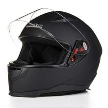 2016 Зима JIEKAI анфас мотоциклетный шлем ABS шлемы Мотоцикла рыцарь защитные колпачки имеют 7 видов цветов размер Ml XL XXL