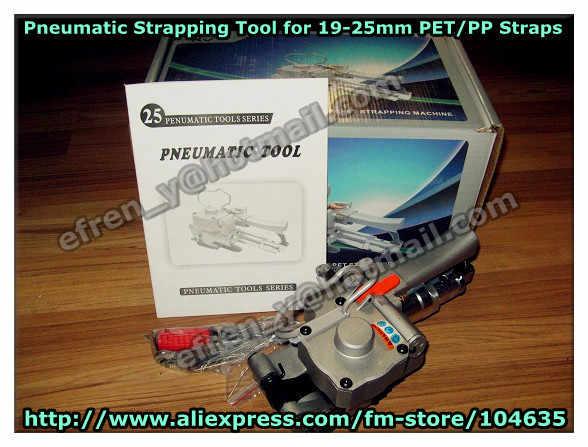 AQD-25 ручной пневматический пластиковый PP PET фрикционный сварочный обвязочный инструмент для 19-25 мм полиэфирный ремень (натяжение: 3500N)