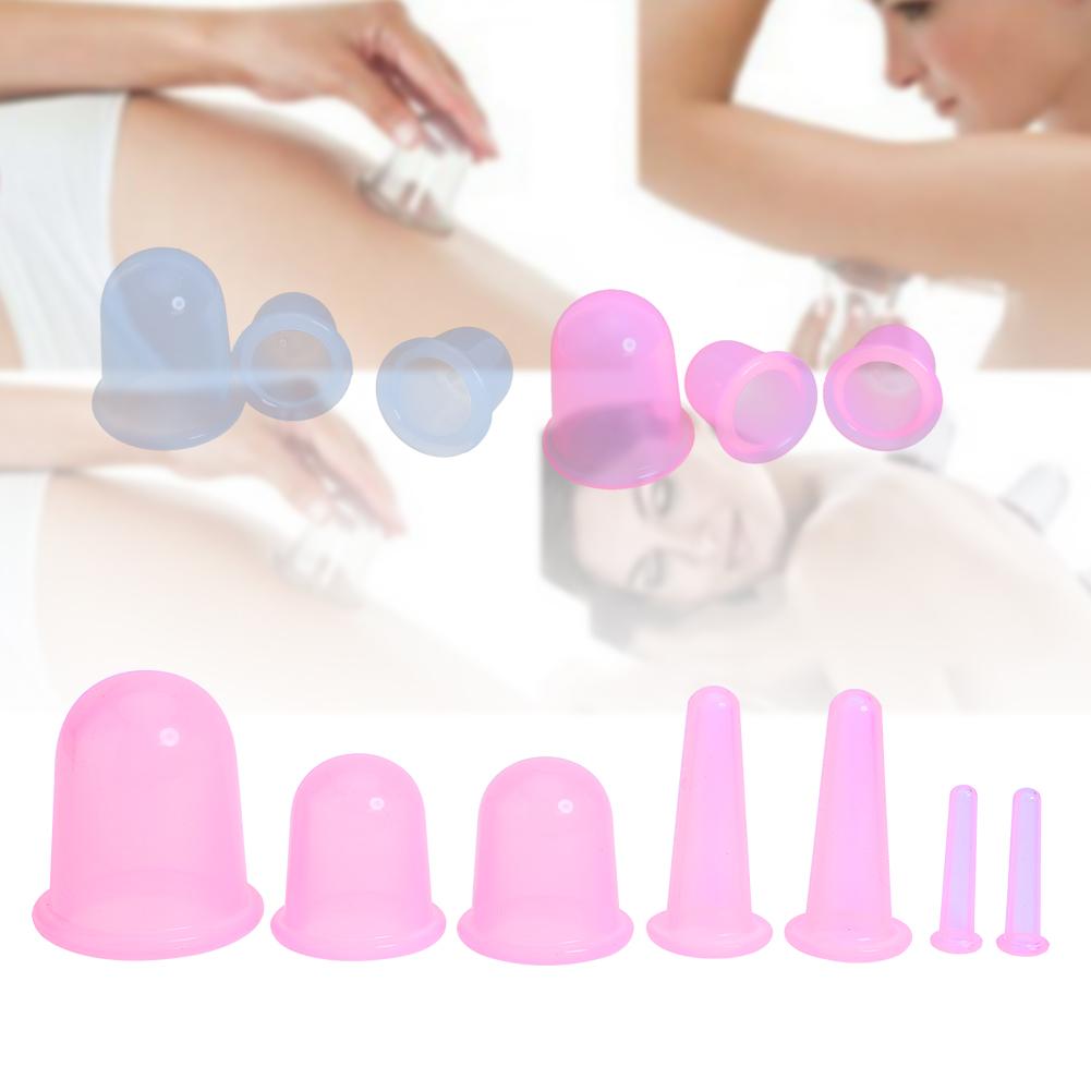 все цены на  7Pcs Body Massage Medical Vacuum Cupping + Suction Pump Suction Therapy Device Set Herapy Kit Silicone Cupping Cup Health Care  онлайн