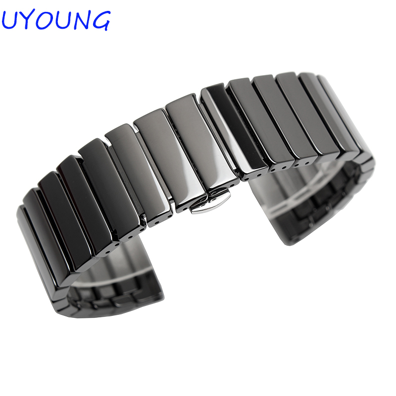High Quality Pearl Ceramics Watchband 22mm 24mm For Womens Mens Watch accessories Ceramic Watch Strap 22 24mm silicone pin buckle wristwatch band mens womens watch strap high quality jd0108