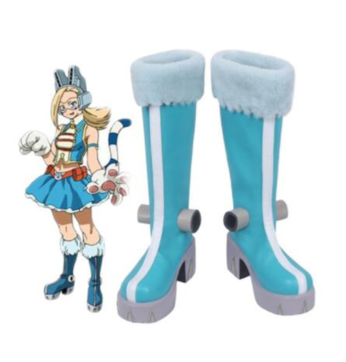Boku no Hero Academia My Hero Academia Pixie-Bob Ryuko Tsuchikawa Blue Cosplay Boots Shoes for Adult Women Shoes Accessories