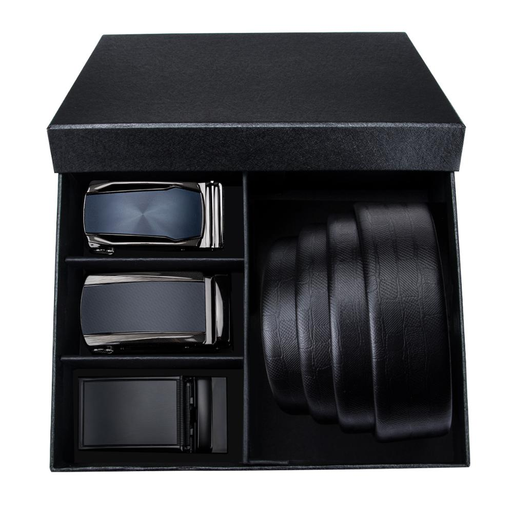 PT 0031 Fashion Automatic Buckle Genuine Leather luxury Belts Barry Wang Male Alloy Buckle Belts For