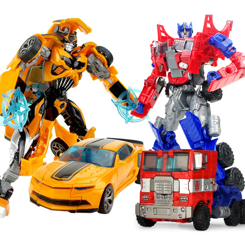 Top Sale 19cm Big Plastic Educational Transformation Robot Action Figure Collect  For Children Boys Deformation Car Model Gifts