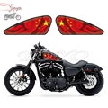 China Flag Logo Graphics Fuel Tank Decals Stickers For Harley Sportster XL 883 1200 X/V/R/N/L/C Iron Forty Eight Seventy Two