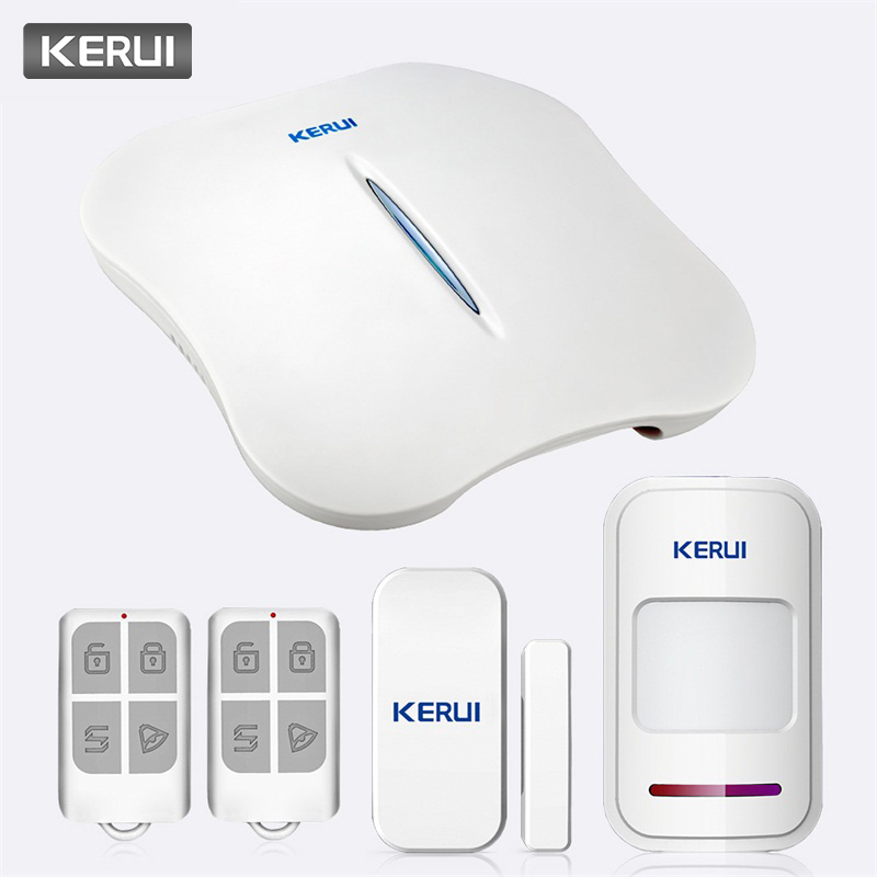 KERUI W1 Voice Prompt Wireless WiFi PSTN Home Security Linkage Alarm Anti theft Alarm System Kit