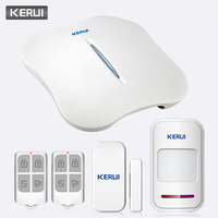 KERUI W1 Voice Prompt Wireless WiFi PSTN Home Security Alarm System APP Control Linkage Alarm Call SMS Push Anti theft Alarm Kit