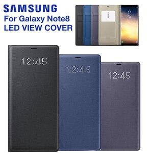 Image 1 - Chính Hãng SAMSUNG LED View Bao Da Smart Cover Ốp Lưng Điện Thoại Samsung Galaxy Note 8 N9500 Note8 N950F SM N950F Điện Thoại Chính Hãng bao Da