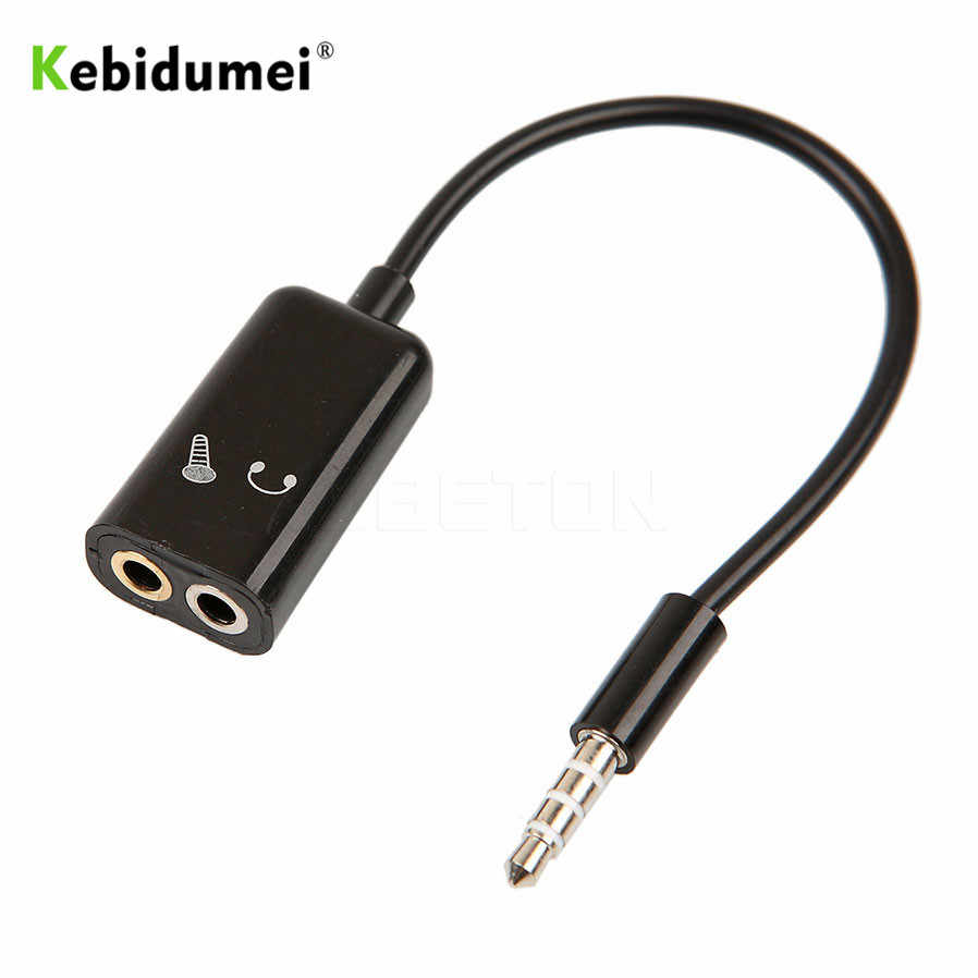 hight resolution of kebidumei 3 5mm stereo splitter audio male to earphone headset microphone adapter couples turn wiring