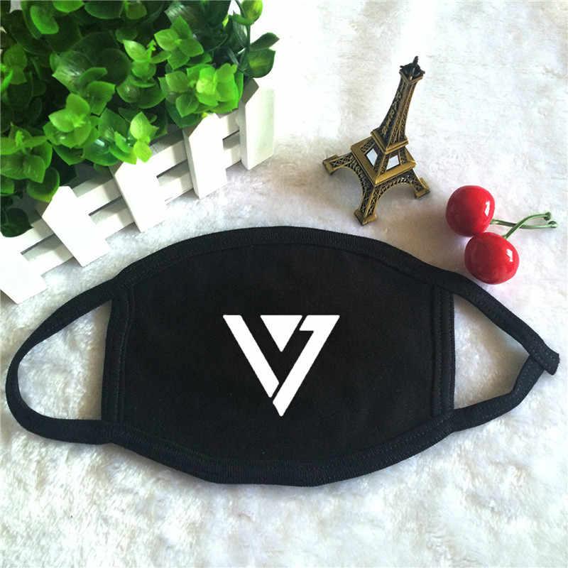 Máscara facial Youpop KPOP con Logo de SEVENTEEN, máscara antipolvo de algodón KZ148