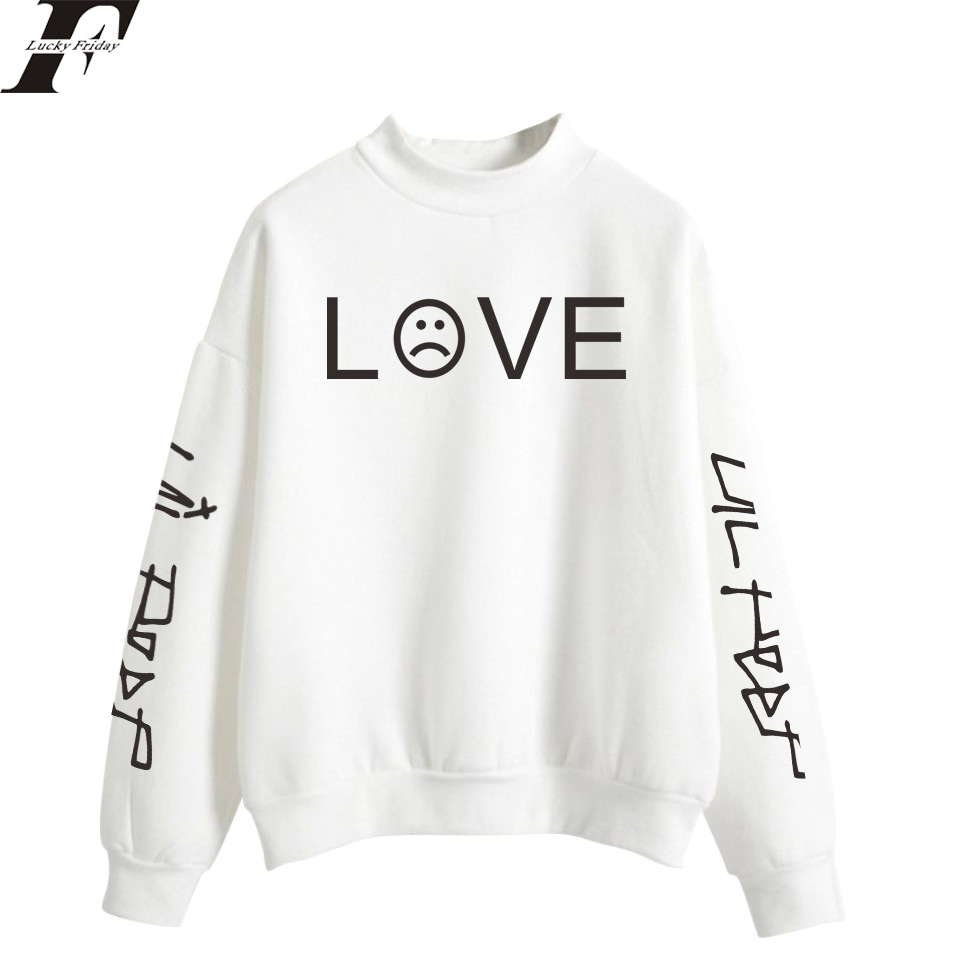 LUCKYFRIDAYF 2018 Lil Peep Hip Hop R.I.P. Oversize Turtlenecks Hoodies Sweatshirts Women/Men tracksuit Loose Casual streetwear