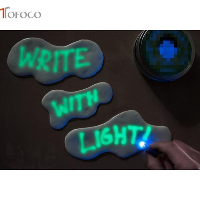 TOFOCO Glow In The Dark Playdough Polymeer Klei Slime Speelgoed Licht Plasticine Lizun Stopverf Onderwijs Nieuwigheid Speelgoed Clayey