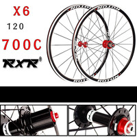 2018 High Quality HOT sale front 2 rear 5 bearing V brake Road Bike 700C wheel group Bicycle Wheelset Bike Rims