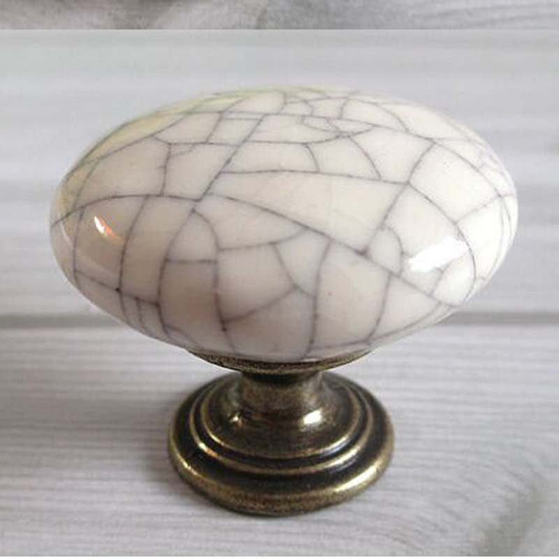 Crack Ceramic Kitchen Cabinet Knob Dresser Drawer Knobs