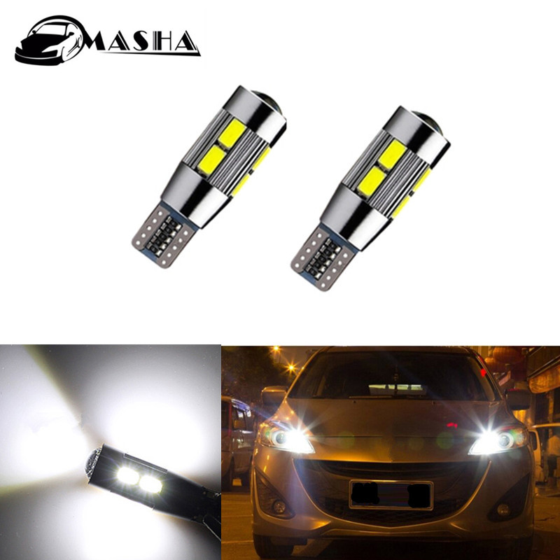 2x T10 W5W <font><b>LED</b></font> Wedge Light Marker Lamps Bulb For <font><b>Mazda</b></font> 323 626 cx-5 3 6 8 Atenza <font><b>cx7</b></font> cx-7 mx5 cx3 rx8 cx5 image