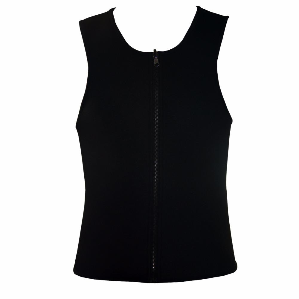 Men Latex Ultra Sweat Hot Waist Trainer Body Shaper Slimming Fit Vest Neoprene Front Zipper Fat Borning Control Top Shapewear (23)