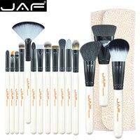 JAF Brand 15 Piece Makeup Brushes Kit Multipurpose Super Soft Hair PU Leather Case Holder Make