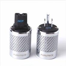 Alta fidelidade furutech FI 50M / FI 50 ncf nano cristal power ródio chapeamento de alimentação plug grau high end caixa 15a 125v/10a 250v ac