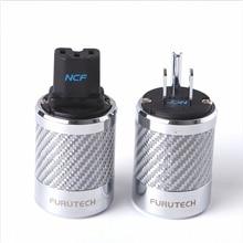 Hifi Furutech FI 50M / FI 50 NCF ננו קריסטל כוח רודיום ציפוי אספקת תקע כיתה גבוהה סוף תיבת 15A 125V /10A 250V AC
