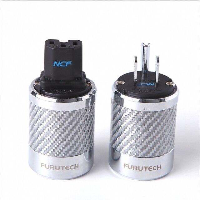 Hifi Furutech FI 50M / FI 50 NCF نانو كريستال الطاقة الروديوم تصفيح العرض التوصيل الصف الراقية صندوق 15A 125 فولت/10A 250 فولت التيار المتناوب