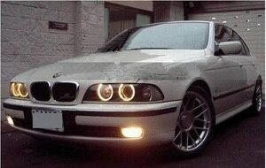 Image 2 - 2 pcs przedni reflektor samochodowy dla E39 reflektorów 1996 ~ 2003 rok, 520 528 530 XENON HID reflektorów H7 Xenon obiektyw dwukrotnie U kąt oczy