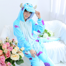 Super Monster Sullivan Onesie Kigurumi Pajamas For Adult Pyjamas Cartoon Sully Jumpsuit Cosplay Sleepwear Halloween Party