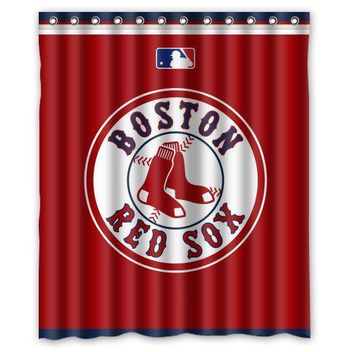 Boston Red Sox Baseball MLB Waterproof Polyester Bathroom Shower Curtain In Curtains From Home Garden On Aliexpress