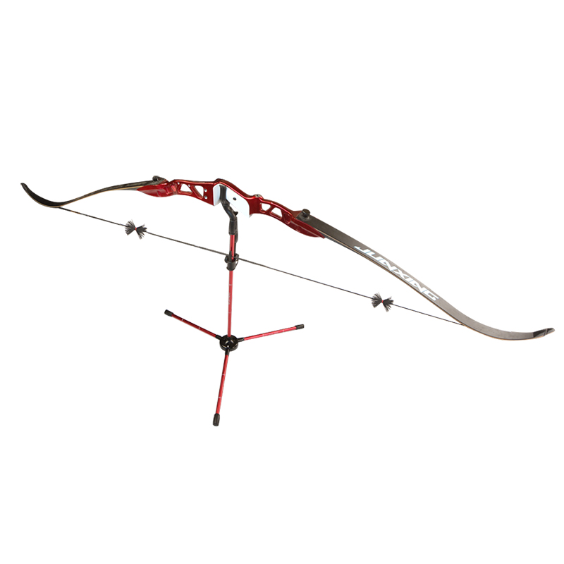 Image 5 - 1pc Archery Bow Stand Aluminum Alloy Tripod Foldable Bow Stand Recurve Bow Longbow Bracket Rack Hunting Shooting Bow Accessories-in Bow & Arrow from Sports & Entertainment