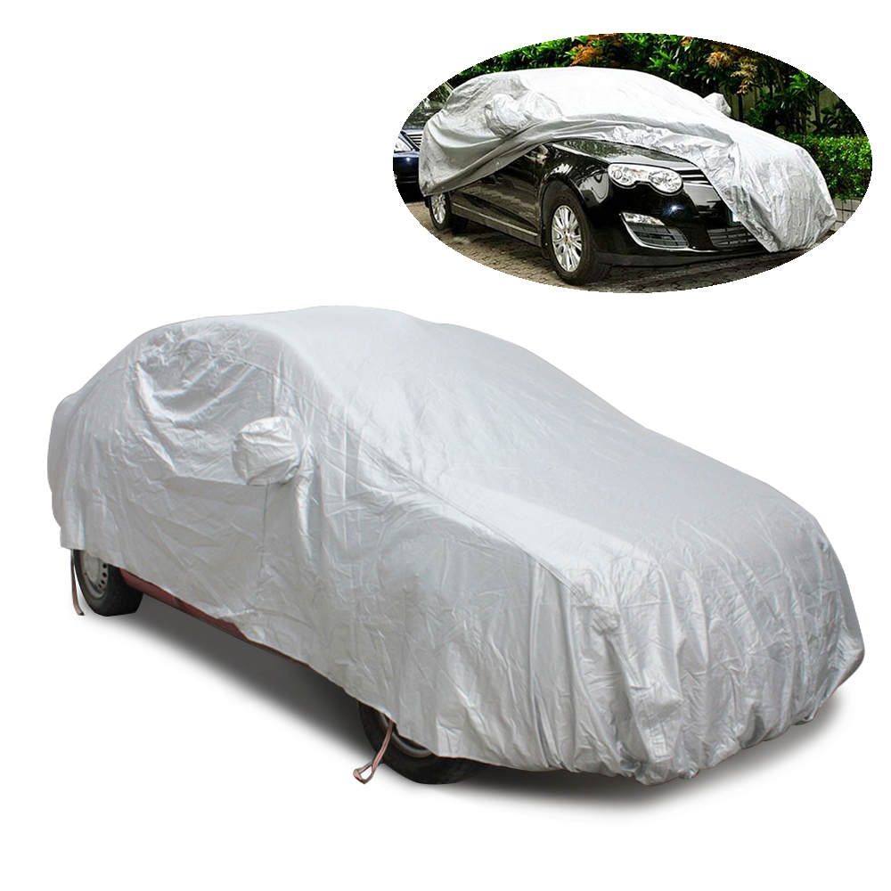 4 Size M L XL XXL Sedan Polyester Car Covers Protect from sun rain snow anti