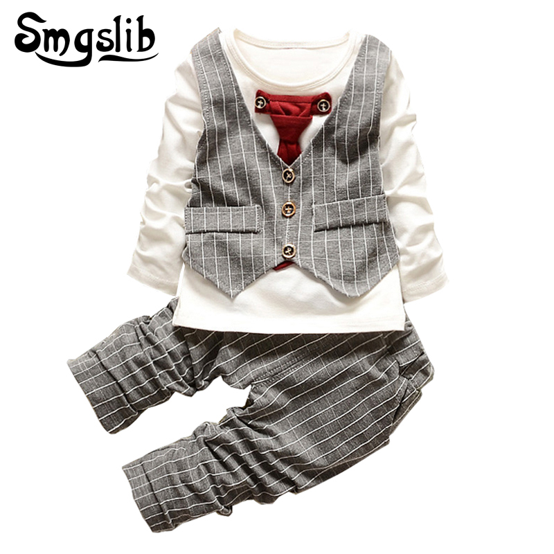 Baby Boys clothes set fashion infant clothing baby girl suits formal gentleman long sleeve Necktie Wedding Birthday Outfits mother nest 3sets lot wholesale autumn toddle girl long sleeve baby clothing one piece boys baby pajamas infant clothes rompers