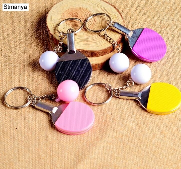 7 Color Sport Ping Pong Table Tennis Ball Badminton Bowling Ball Keychain Key Chain Keyring Key Ring Souvenir Gift 1-17222