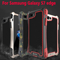 100% marca original-apenas r metal gorilla glass tampa à prova d' água de fibra de carbono case para samsung galaxy s7 edge